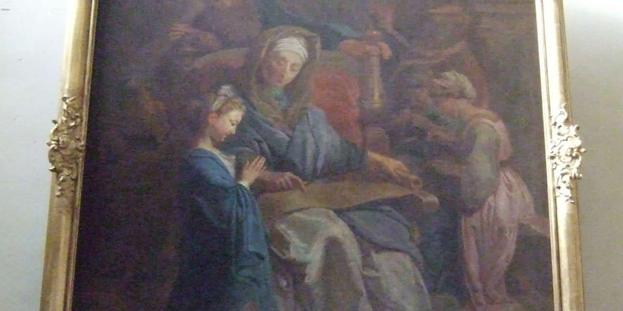 Encadrement du tableau de « l' Education de la Vierge »